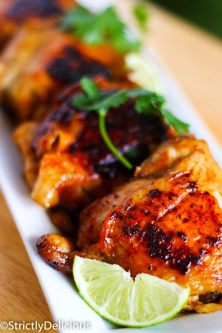 Caribbean Chicken. Sooo easy to make, and tastes almost like it's grilled (without a grill)!!! You'll love this marinade