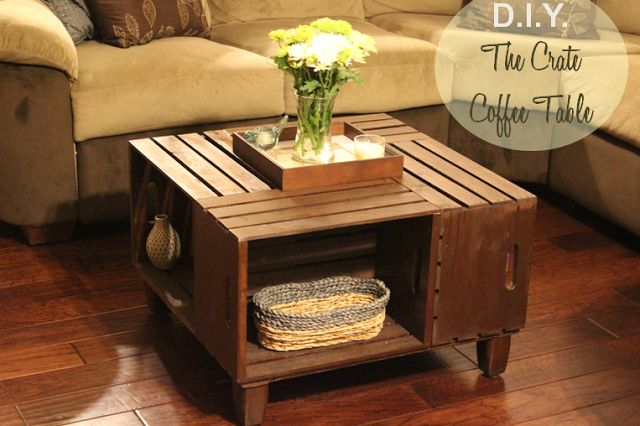 Landing On Love: D.I.Y. - Crate Coffee Table Here is that coffee table everyone was talking about