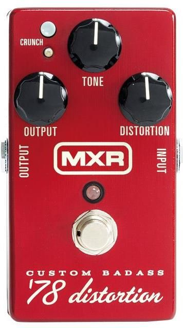 MXR M78 Custom Badass '78 Distortion. This was chosen by GuitarSite.com as one of the best distortion pedals in 2016. For a detailed guide to Distortion Pedals see http://www.guitarsite.com/best-distortion-pedal/