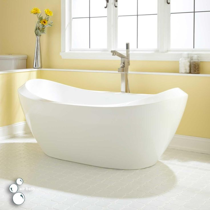 Beauty And Elegance Combine In The Unique Design Of The Halsey Freestanding  Acrylic Tub. The Shapely Rim And Spacious Interior Are Features Of This  Timeless ...