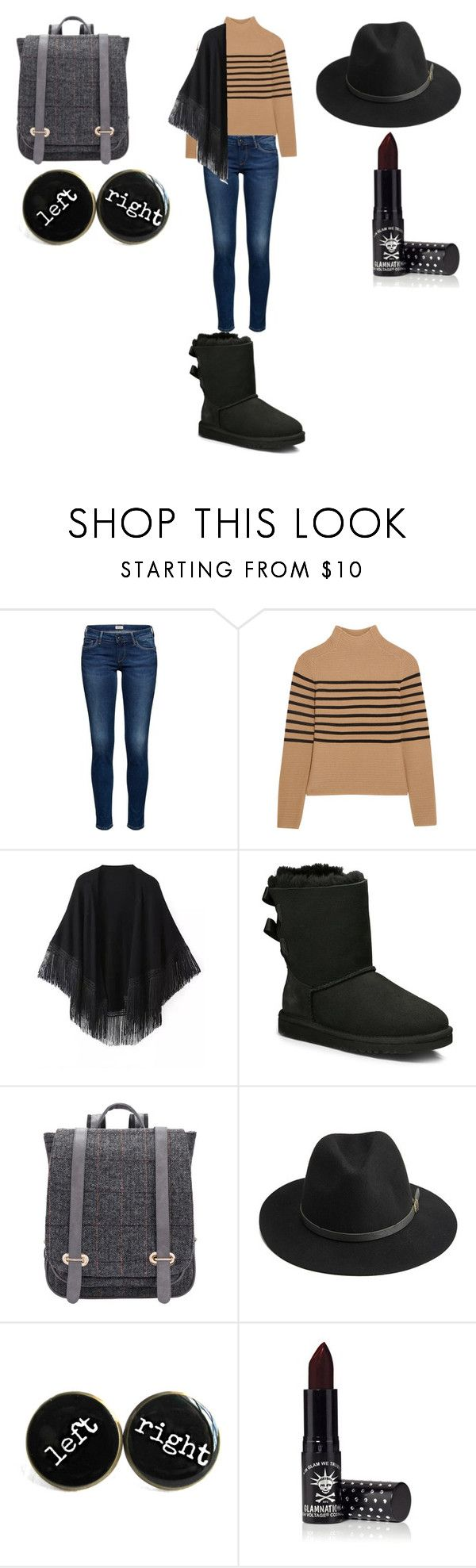 """""""Untitled #370"""" by luanaornella1567 ❤ liked on Polyvore featuring Topshop Unique, Relaxfeel, UGG Australia, BeckSöndergaard and Manic Panic"""