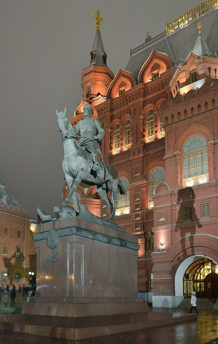 Monument to marshal Georgy Zhukov. Moscow, #Russia.