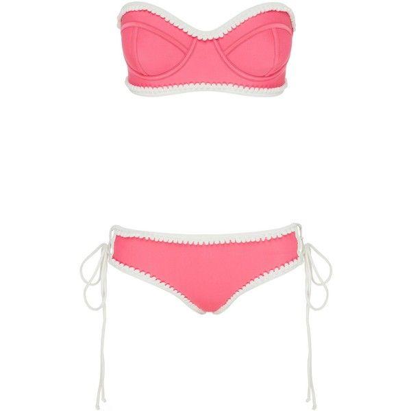 BEACH ROAD BIKINI BOTTOM ($70) ❤ liked on Polyvore featuring swimwear, bikinis, bikini bottoms, beach bikini, bikini bottom swimwear, beach wear, coral bikini and coral swimwear