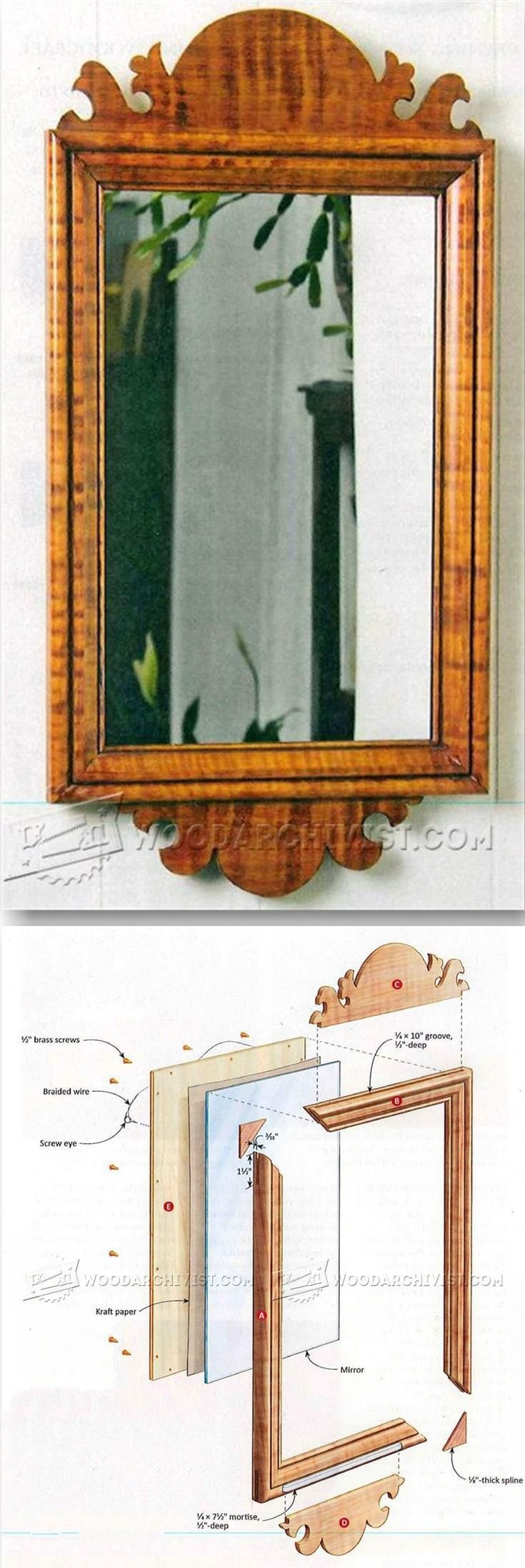 Country Wall Mirror Plans - Woodworking Plans and Projects | WoodArchivist.com