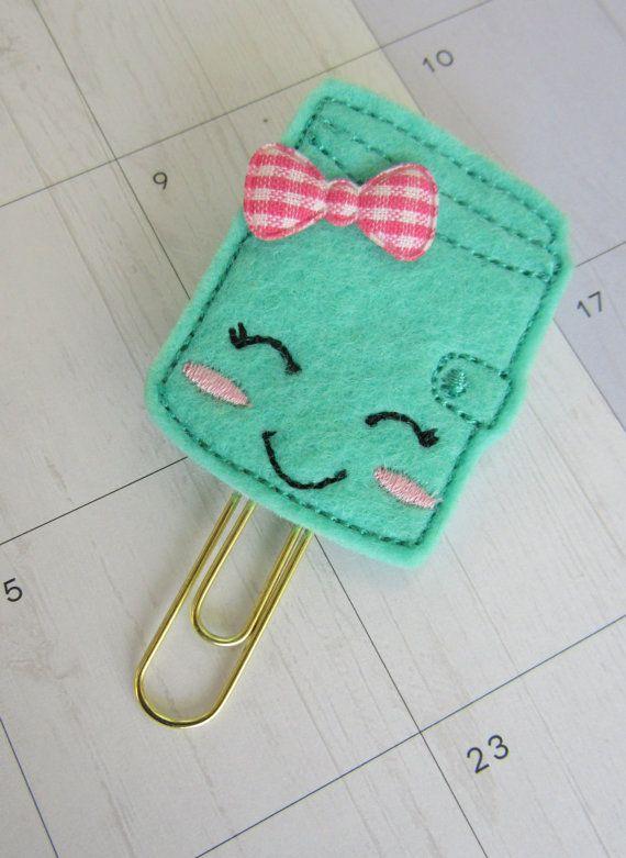 Kawaii Planner Journal Paper Clip  Cute Planner by Legit2Stitch