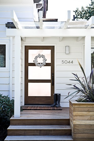 Love the front door and pergola.
