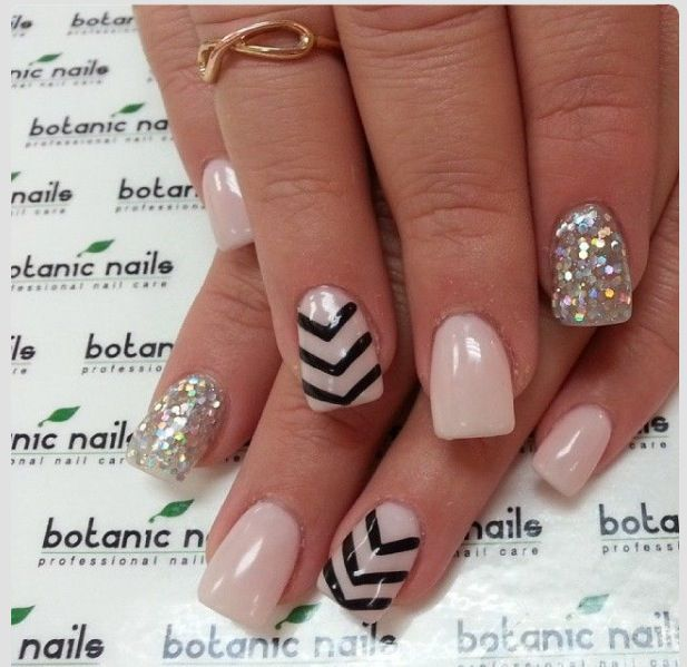 Cute nails : mixed : diamonds