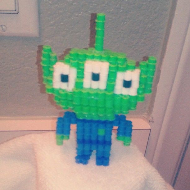 3D Alien Toy Story perler beads by tricia620