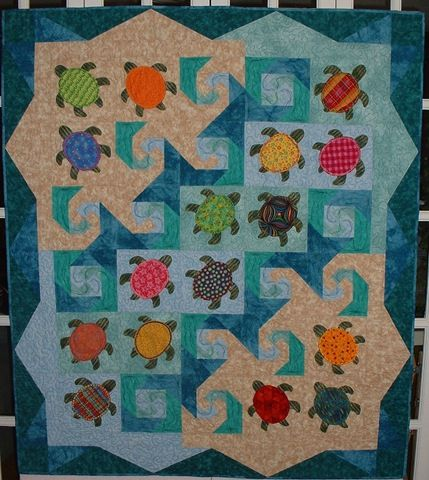 Quilt Patterns With Turtles : 1000+ ideas about Turtle Quilt on Pinterest Sea Turtle Quilts, Hawaiian Quilts and Quilts