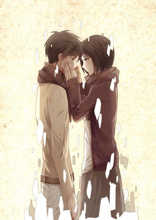 Eren x Mikasa <3 ahh I love these two so much!