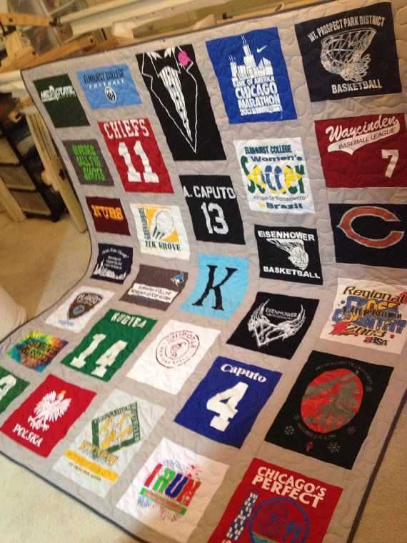 Custom T-Shirt Quilts Made From YOUR T-Shirts-Deposit ONLY on Etsy, $75.00. www.prairiegirlquilts.com