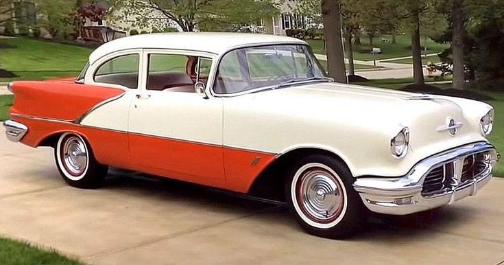 1956 Oldsmobile Eighty-Eight 2 Soor Sedan #VintageCars #classiccars1956cadillac