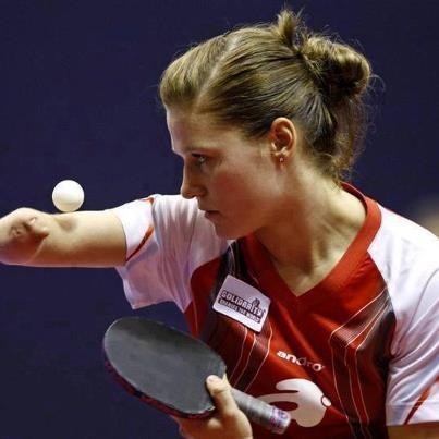 """"""" Natalia Partyka"""" , Born Without RightHand & Forearm ♥ Currently Playing TableTennis In London  Olympics. Hats off to her"""
