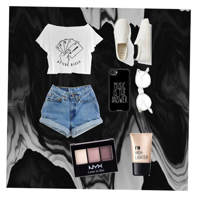 """""""Panic! At The Disco-Life is music"""" by cassidyz on Polyvore featuring Levi's, Gap, Casetify, Charlotte Russe and NYX"""