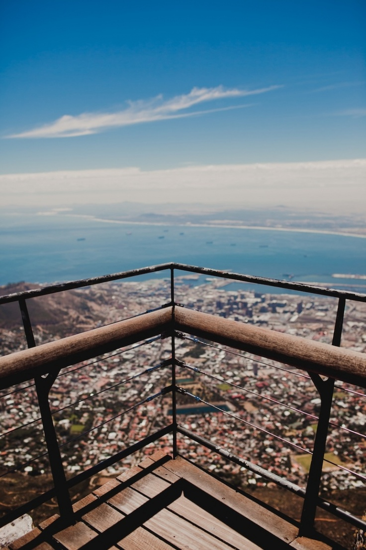 Cape Town. View from Table Mountain.