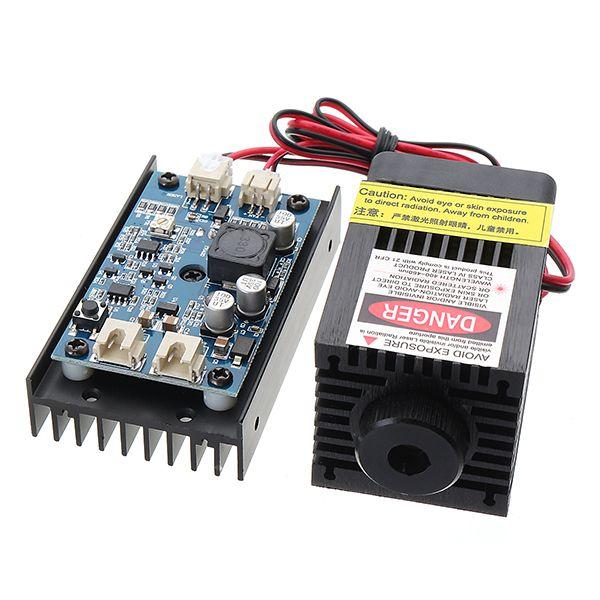 EleksMaker® LA03-3500 450nm 3.5W Blue Laser Module With TTL Modulation for DIY Laser Cutter Engraver