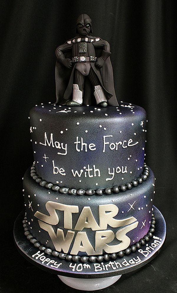 May the force be with you star wars birthday cake! Awesome!    Someone please make this for me for my birthday next year i will love you forever