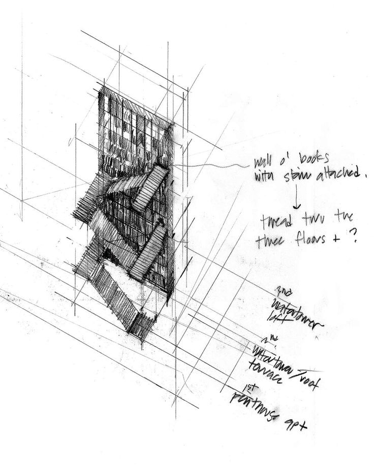 How Architecture Is Born: 8 Pencil Sketches by Tom Kundig and the Buildings They Helped Create - Architizer