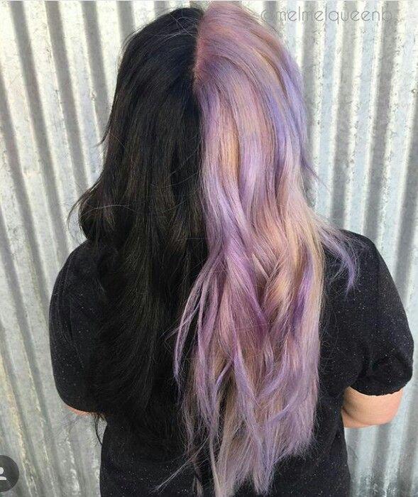Pin Von Artemis Artemis Auf Hairstyles In 2020 Haare Haarfarben Ideen Lila Schwarze Haare