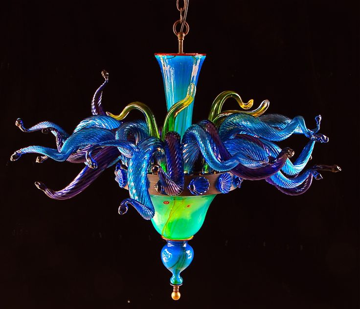 N Glass Chandelier By Maui Artist Rick Strini