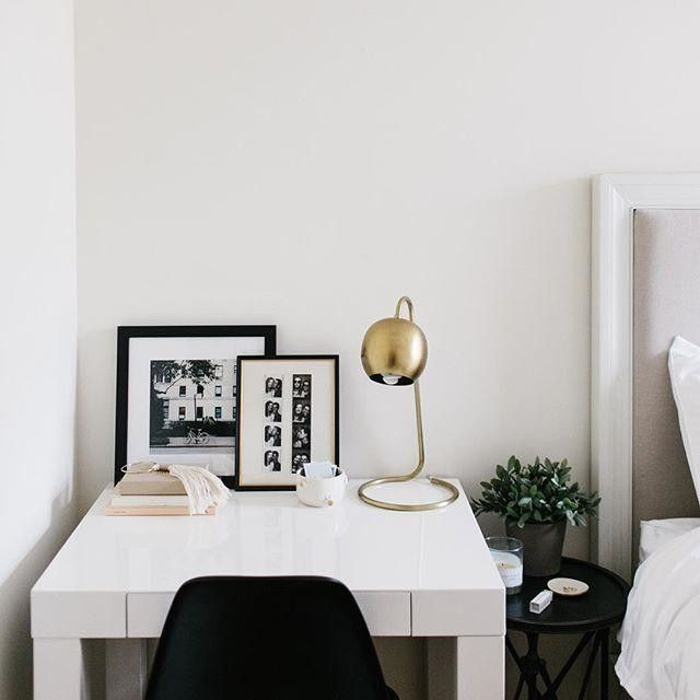 Best Small Desk Next To Bed With Mini Bedside Table In Between 400 x 300