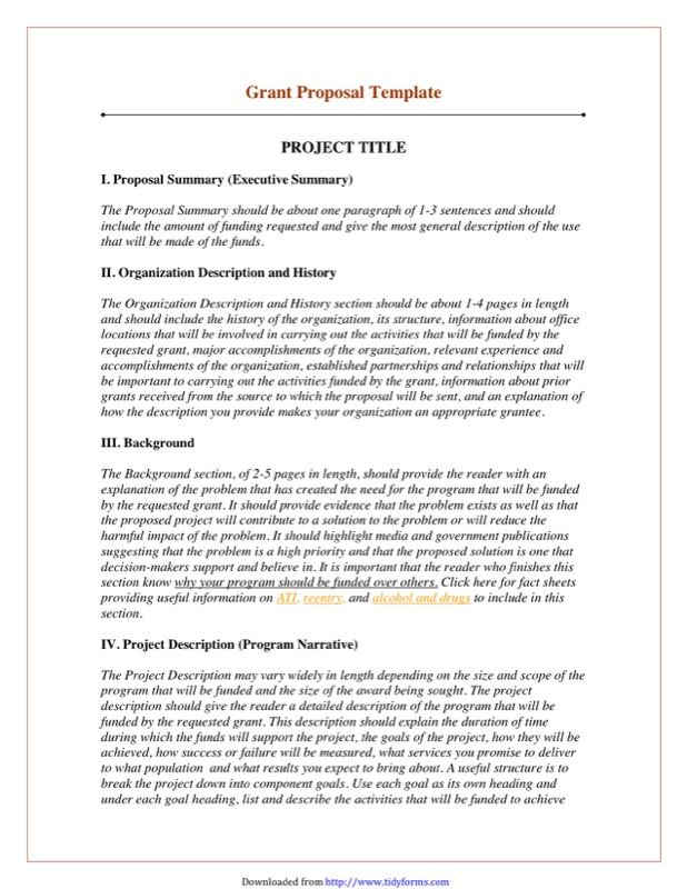 Grant Proposal Template 2 Grant Proposal Writing Grant Proposal