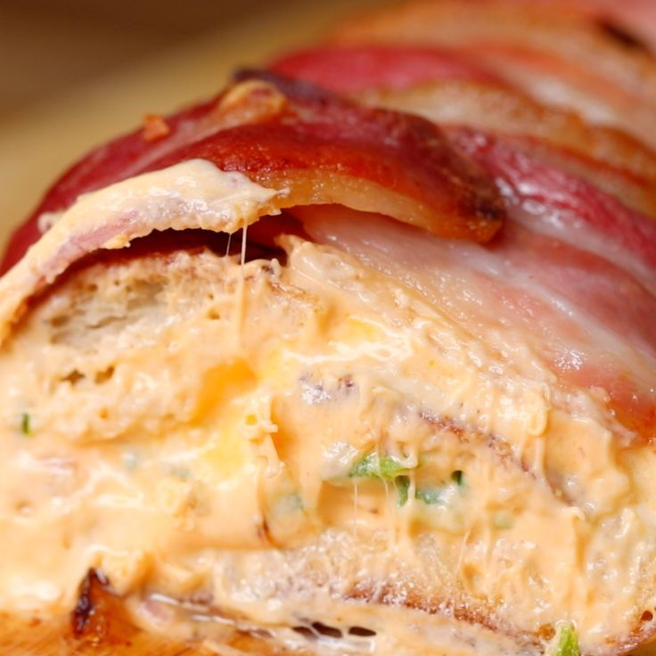 Bacon Wrapped Jalapeño Popper Bread - Twisted