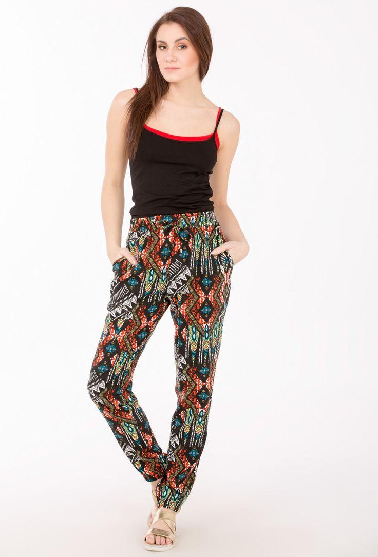 L2017 Wzorzyste spodnie na lato