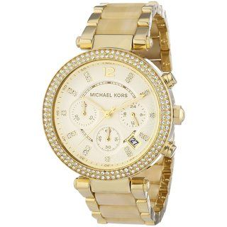 Michael Kors Women\u0027s MK5632 \u0027Parker\u0027 Chronograph Goldtone Watch by Michael  Kors. Cheap Michael Kors PursesWatches ...