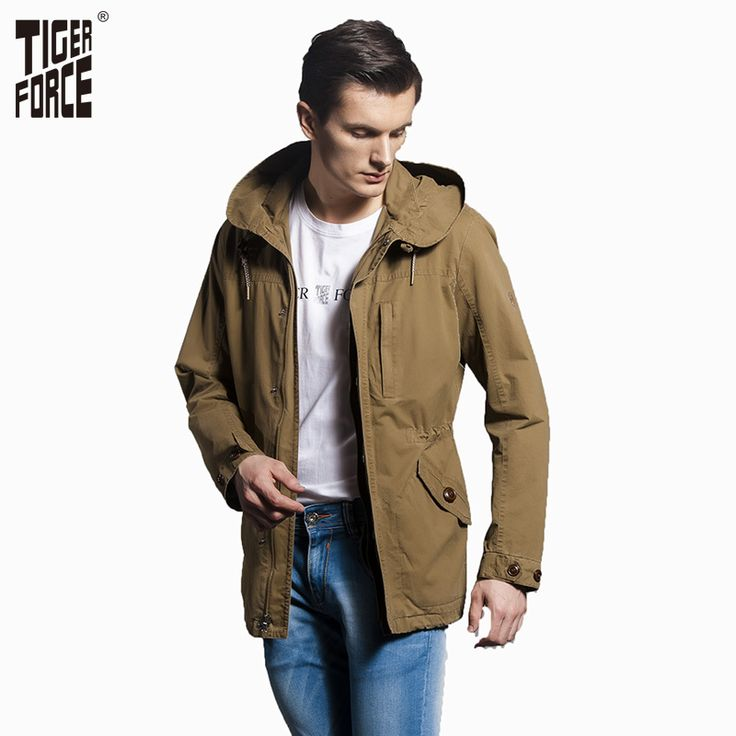Find More Trench Information about TIGER FORCE 2016 High Quality Men Fashion Trench Coat Outdoor Casual Jacket Coat Parka Zipper Cotton Fabric Free Shipping 30004,High Quality fashion dresses plus size,China cotton organza Suppliers, Cheap fashion bear from TIGER FORCE on Aliexpress.com