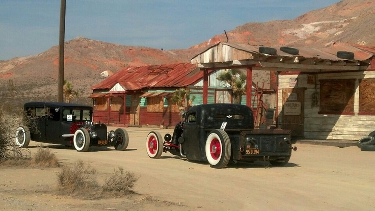 Old hot rods in ghost town photo by Bill L