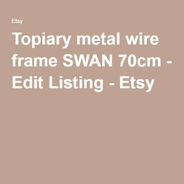 Topiary metal wire frame SWAN 70cm - Edit Listing - Etsy