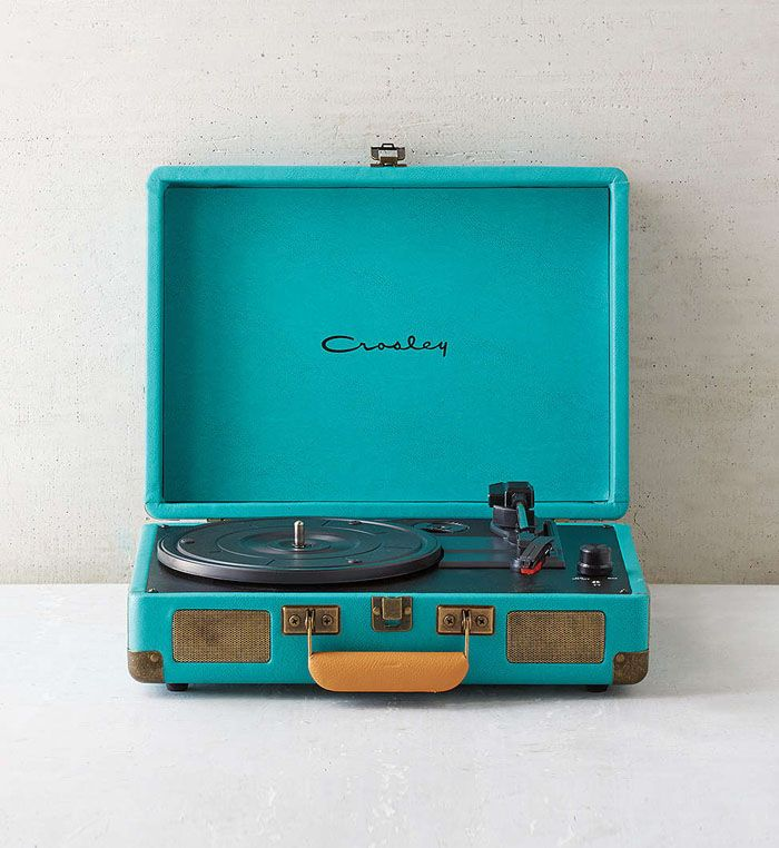 Crosley X Turquoise Cruiser Briefcase Portable Vinyl Record Player