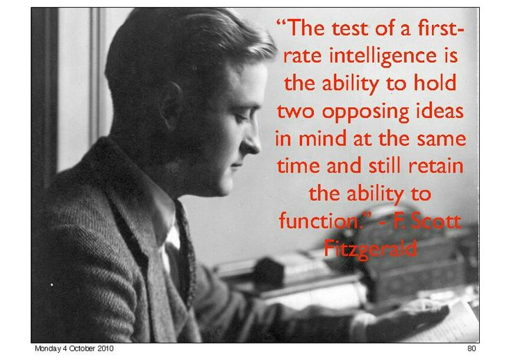 Wisdom of opposing ideas