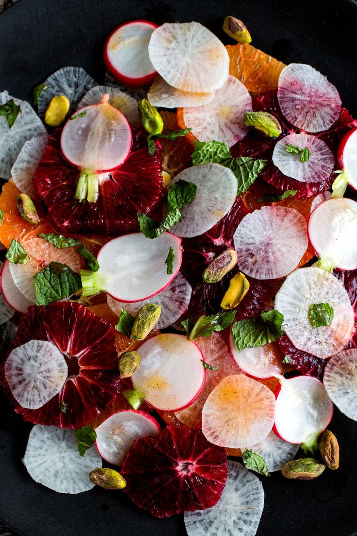 "NYT Cooking: Before I put this salad together, I could imagine how it would feel and taste in my mouth: the juicy, sweet oranges playing against the crisp, pungent radishes. The combination was inspired by an orange, radish and carrot salad in Sally Butcher's charming book ""Salmagundi: A Celebration of Salads From Around the World.""<br/><br/>The salad is a showcase for citrus, which is in season in California. Navels are particularly good right now, both the regular variety and the darker…"