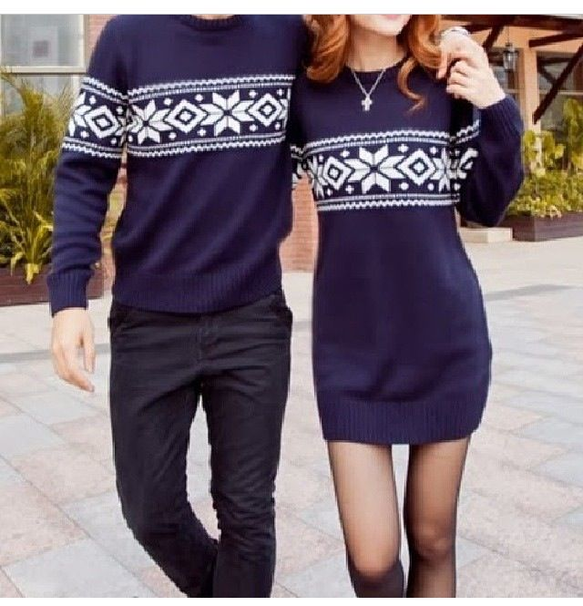 Matching boyfriend/girlfriend sweaters
