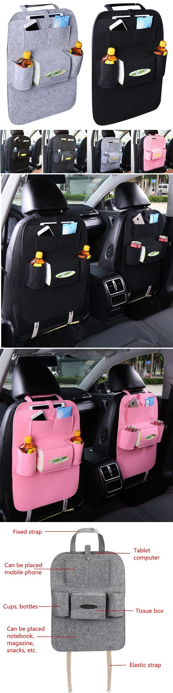 US$5.99 Universal Car Seat Back Multi-Pocket Hanging Holder Storage Bag Tidy Organizer Storage Shelves Bins