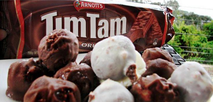 3 Ingredient Tim Tam Cheesecake Balls