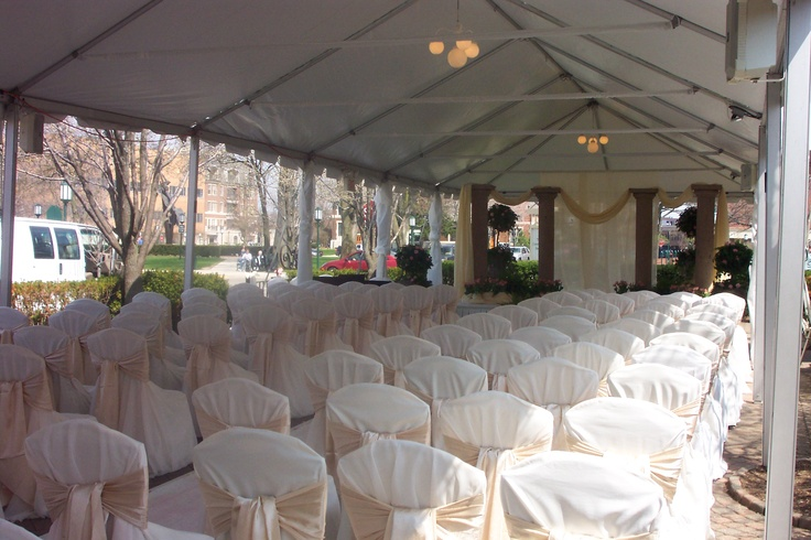 Wedding Ceremony Set On The Terrace At Community House Birmingham Mi Weddings Pinterest Ceremonies And