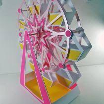 Resultado de imagem para molde quebra cabeça 3d roda gigante