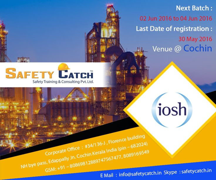 Get health and #safety qualified with #IOSH courses from Safety Catch Training in #Chennai: http://bit.ly/IOSH-Training-Program