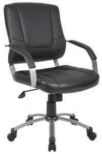Offices to go to office chair - Pin it :-) Follow us :-)) AzOfficechairs.com is your Office chair Gallery ;) CLICK IMAGE TWICE for Pricing and Info :) SEE A LARGER SELECTION of  office to go office chair at  http://azofficechairs.com/?s=office+to+go+office+chair - office, office chair, home office chair -  Boss – Executive Black Leatherplus Modern Retro Office Chair-B446 « AZofficechairs.com