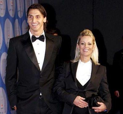 Zlatan Ibrahimovic with Wife