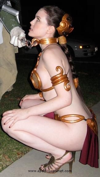 About star wars princess leia slave girl cosplay