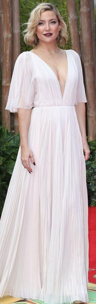 Kate Hudson: Dress – J Mendel  Purse – Lee Savage  coat – Rebecca Taylor  Earrings – Doves by Doron Paloma  rings – Maxior and Le Vian