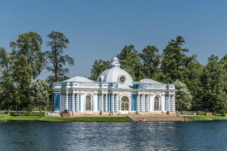 Grotto pavillion in Catherine park of Tsarskoe Selo, Saint Petersburg, Russia.