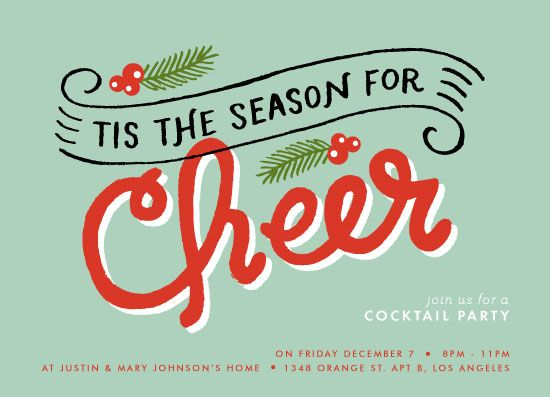 Special Prize Winners: Holiday Party Invites   New Year's Cards