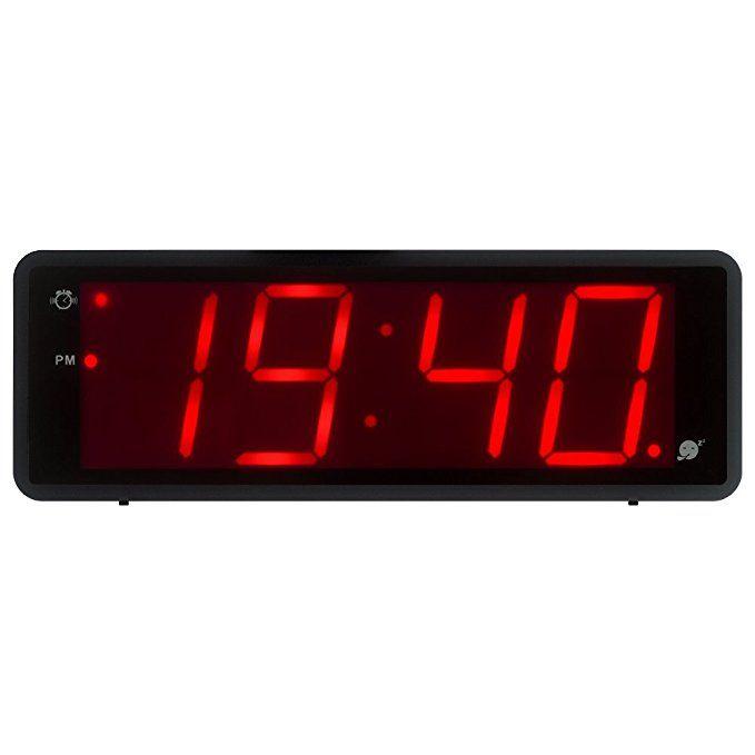 Kwanwa Digital Alarm Clock Large Display With 1 8 Led Numbers