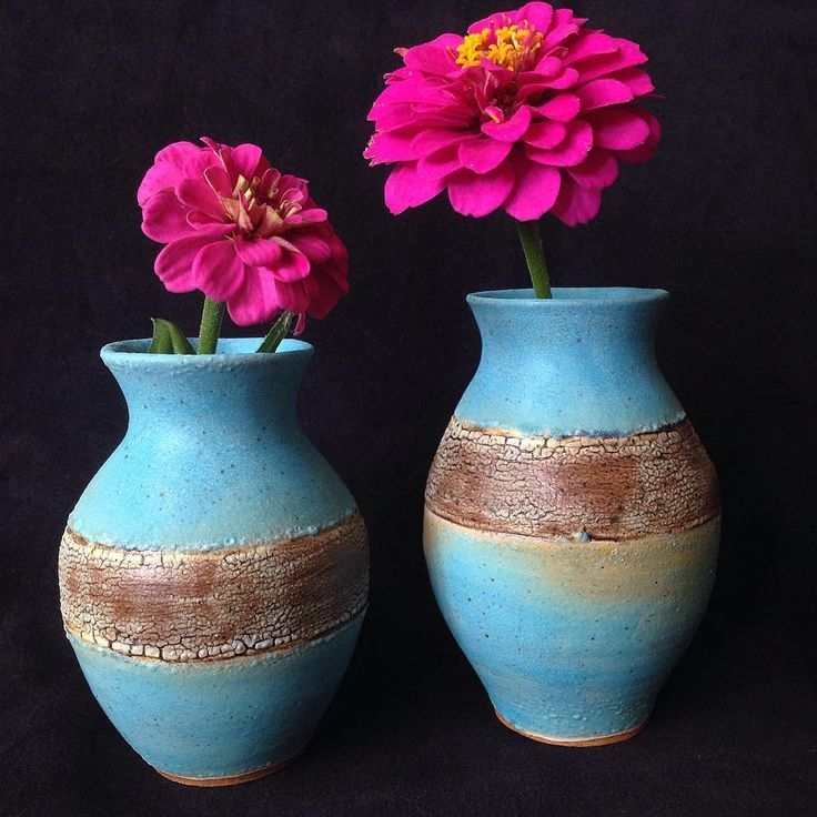 These sweet vases, along with plenty of other pieces from myself and my studio mates, will be for sale one week from tonight at Gallery Night in Madison, Wisconsin! Come on over to Midwest Clay Project on Friday October 6, from 5-9 pm! On the groovalicious east side (best side) of Madison, at 2040 Winnebago. I'll be there! #pottery #ceramics #wheelthrown #clay #turquoisevase #gallerynight #midwestclayproject #madgallerynight #madisongallerynight #madisonartist
