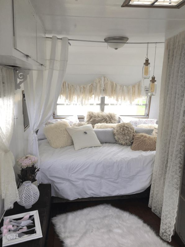 1965 Winnebago We call her Winnie, She has been freshly repainted on the exterior and the interior. Newer hardwood flooring installed throughout. The back bed area is a queen size bed with a new me…